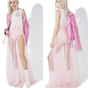 Dolls Kill Angelic Grace maxi skirt